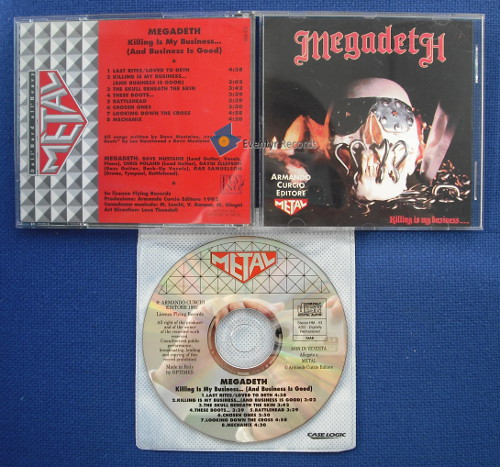 MEGADETH - KILLING IS MY BUSINESS (used) - CD