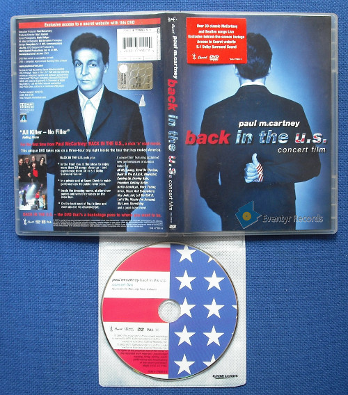MCCARTNEY, PAUL - Back In The U.s. - Concert Film (used)