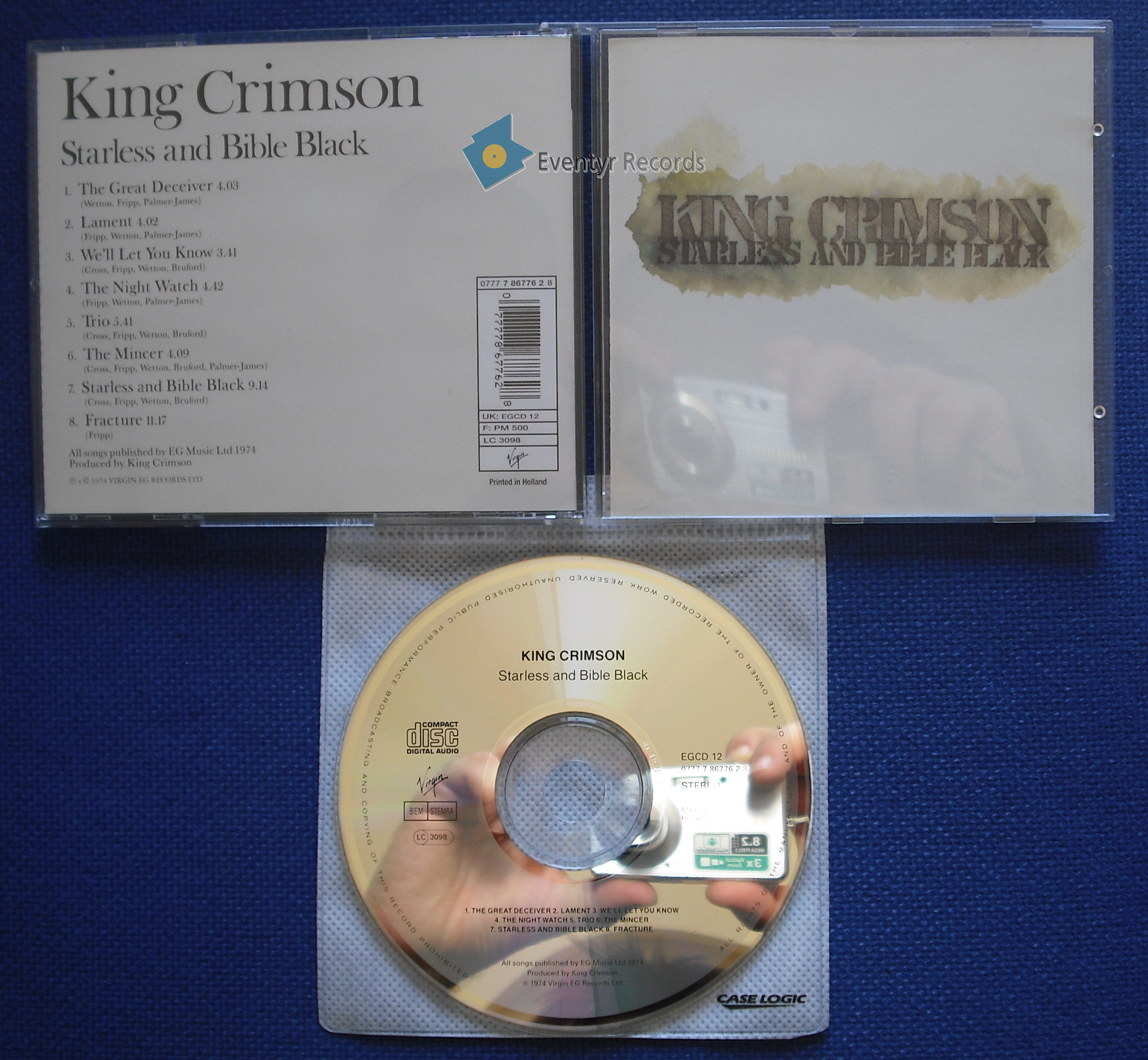 King Crimson Starless And Bible Black Remastered Records